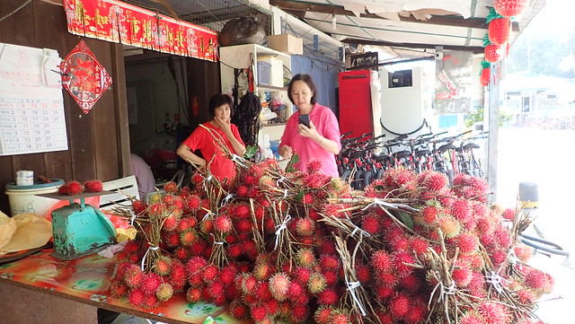 Local fruits for sale at Pulau Ubin