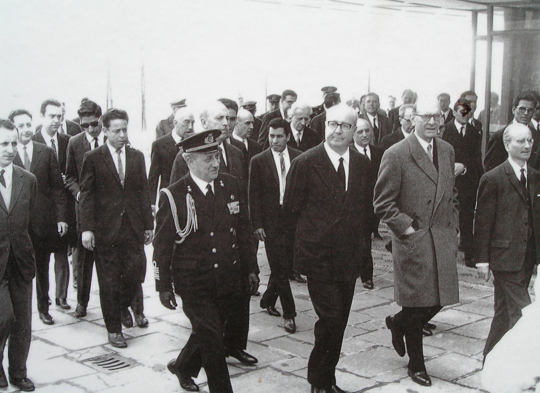 The President of the Italian Republic Mr. Giuseppe Saragat. International Training Centre of the International Labour Organization, January 8, 1964.