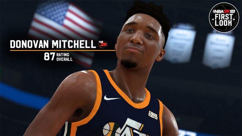 Donovan Mitchell NBA 2K19 Overall