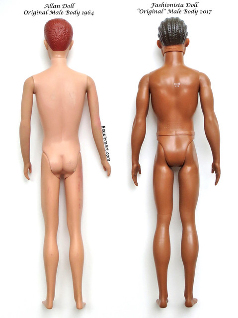 "The new ""Original"" Fashionista Ken body vs Actual Original Ken Body"