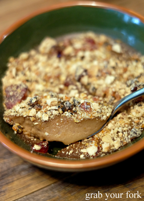 Watalappam baked jaggery custard by O Tama Carey at Lankan Filling Station in East Sydney