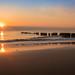 Sonnenuntergang am Strand von Kampen auf Sylt