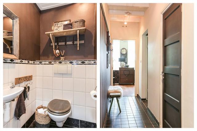 Toilet hal woonboerderij landelijke stijl