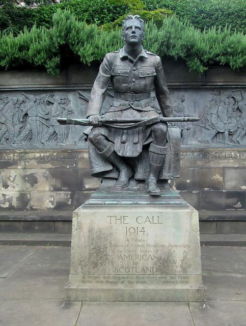 Statue, American War Memorial, Princes Street Gardens