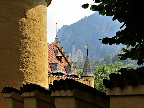 view of Neuschwanstein Castle from Hohenschwangau Castle