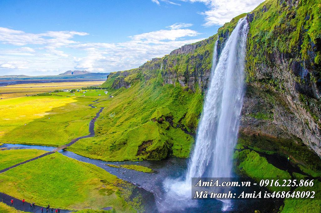 Tranh thác nước đẹp từ thiên nhiên hợp phong thủy