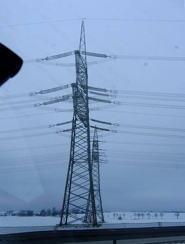 380 und 110  kV bei Pörmitz