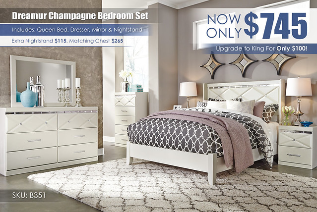 Dreamur Champagne Bedroom Set_B351-31-36-46-57-92-Q169_KU