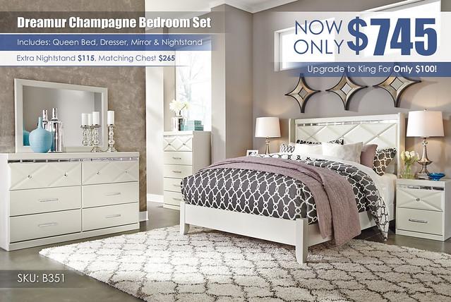 Dreamur Champagne Bedroom Set_B351-31-36-46-57-92-Q169_KU