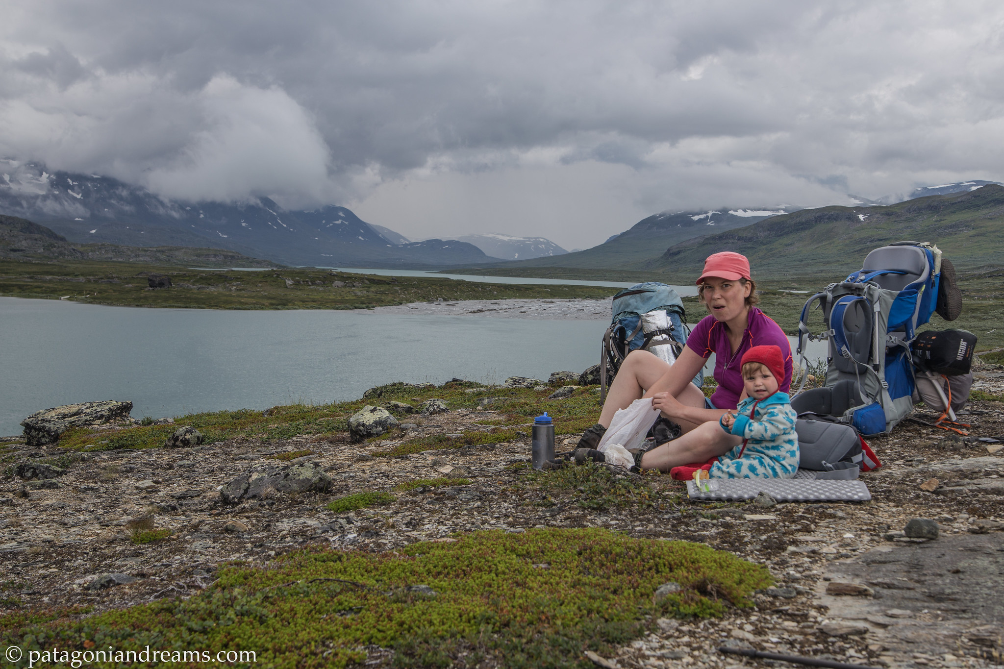 Minutes before the thunder storm came in. Kungsleden. Alesjaure. Swedish Lapland.