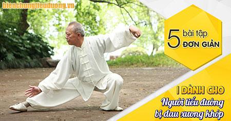 5 bài tập thể dục cho người tiểu đường bị đau khớp