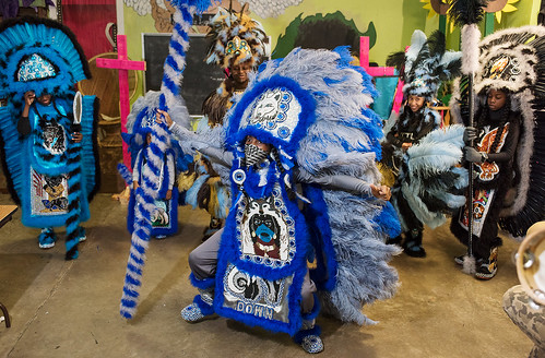 Wild Opelousas Big Chief Tycen dances during Indian Red on Febuary 8, 2018. Photo by rhrphoto.com.