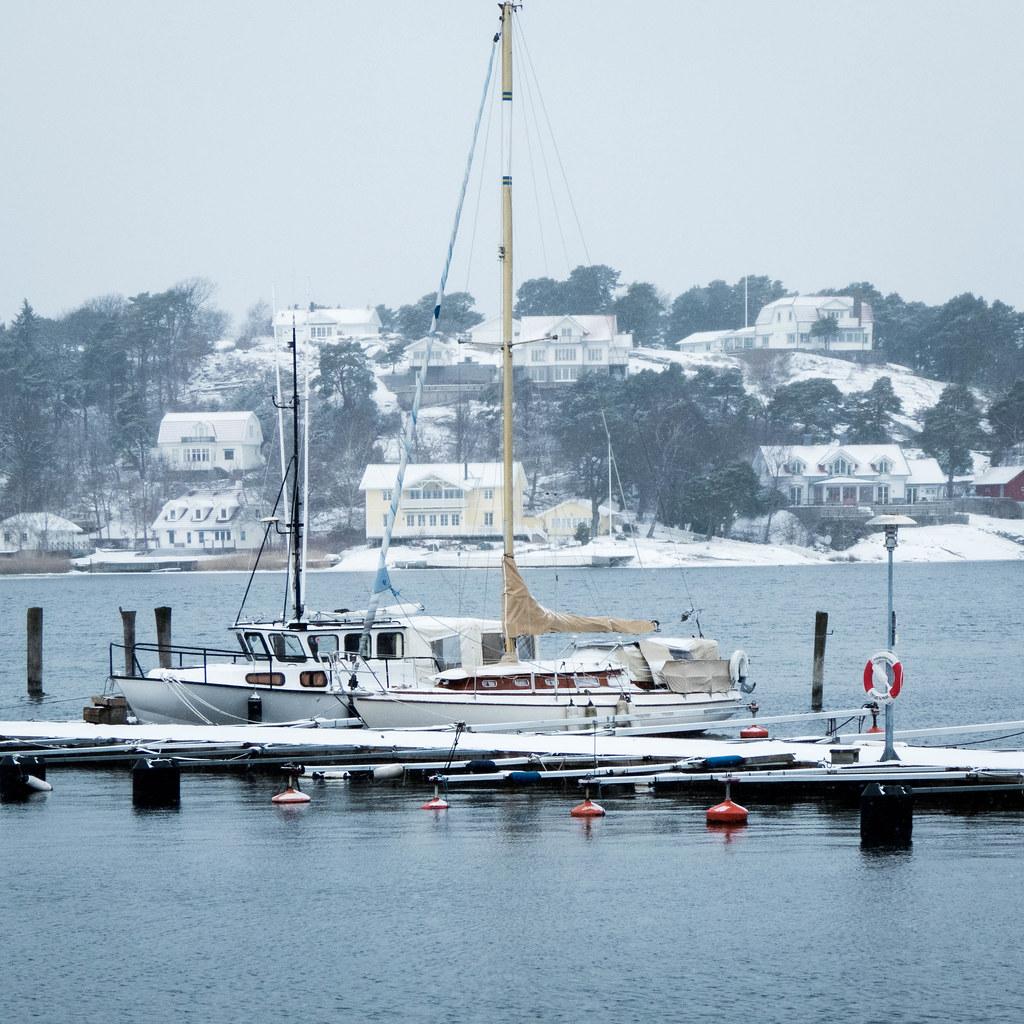 Winter in Stenungsund Harbor