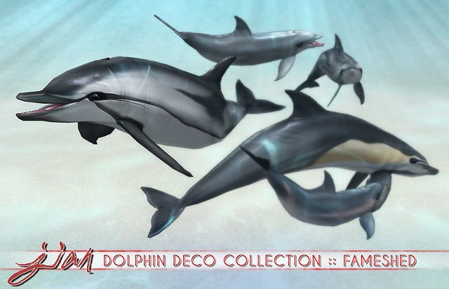 JIAN Dolphin Deco Collection ( FaMESHed August )