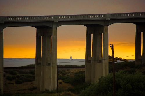 delmar bridge torreypines sunset