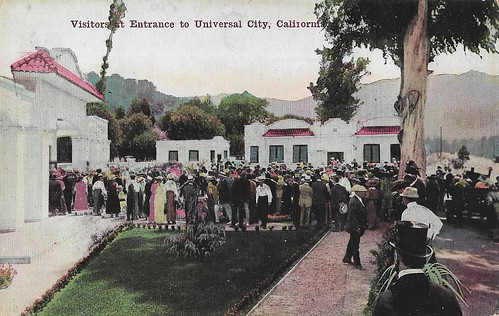 Visitors at Entrance to Universal City