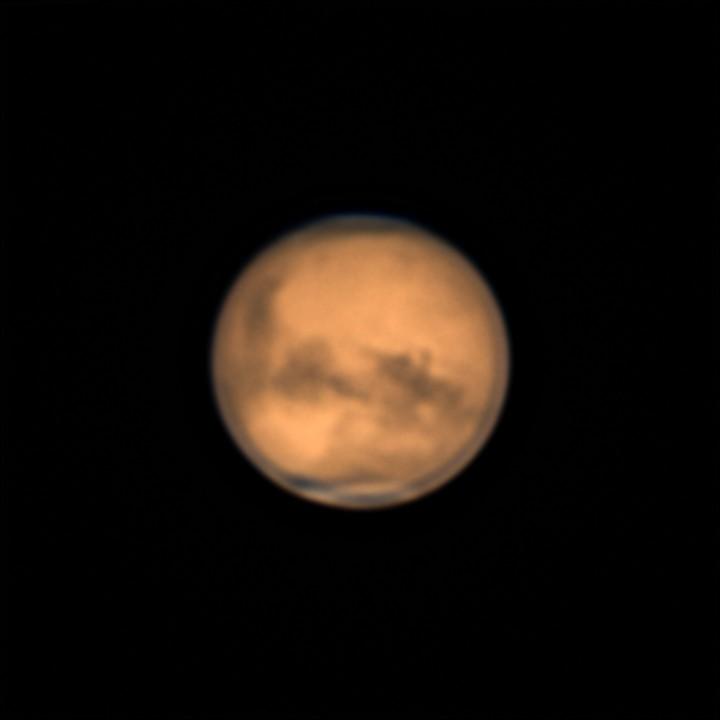 火星 (2018/7/31 23:30-23:43) (2000/5000 x 4 de-rotation, LRGB(IR+RGB))