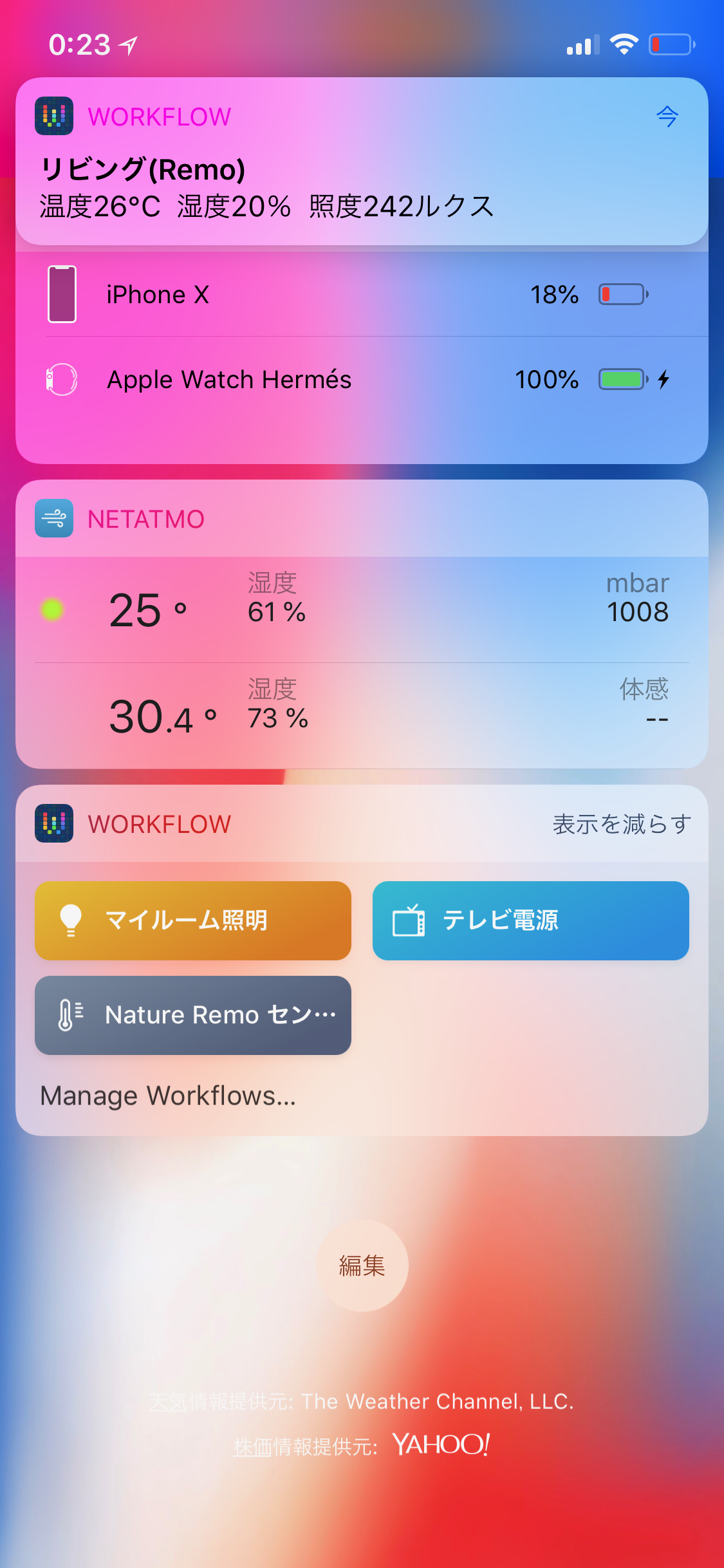 Nature Remo Sensor Widget