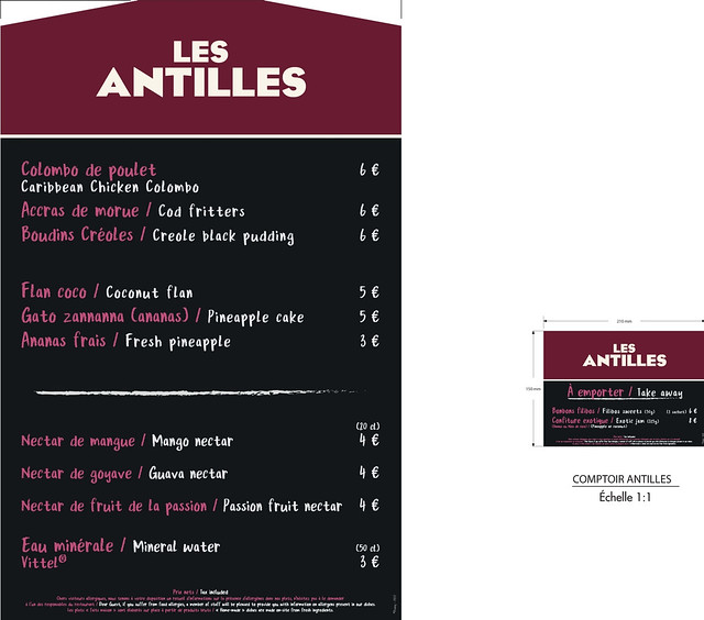 Menu Antilles