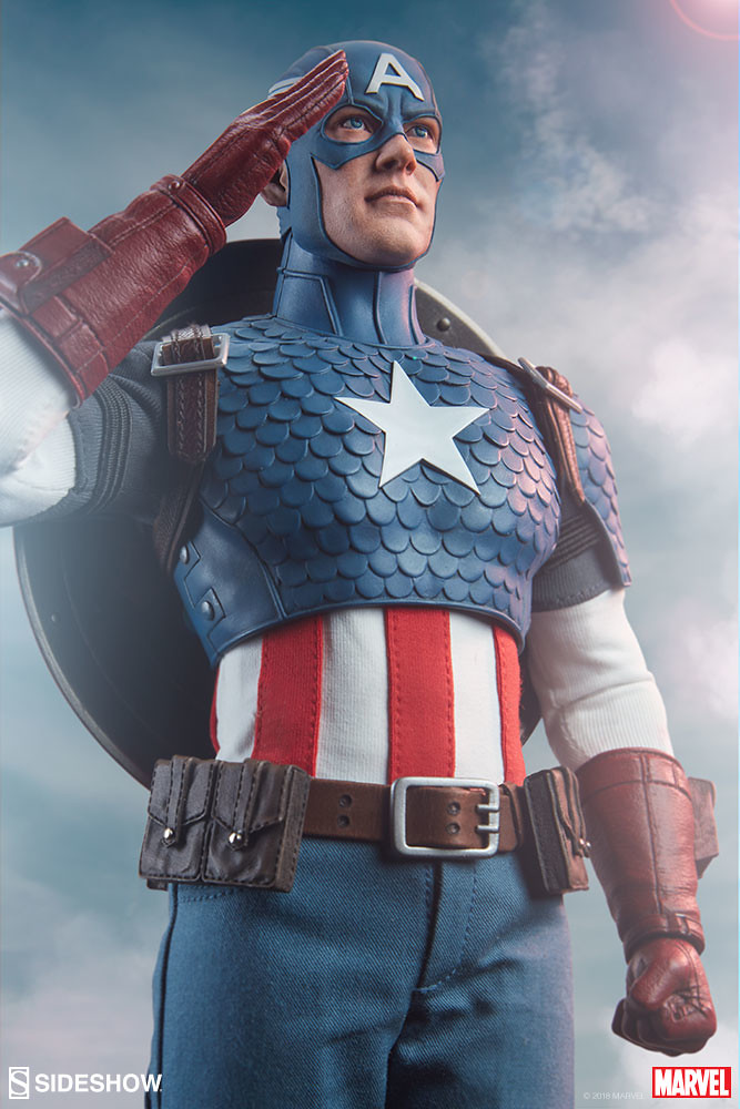 經典的復古造型最對味~ Sideshow Collectibles Marvel Comics【美國隊長】Captain America 1/6 比例人偶作品