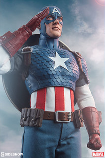 Marvel Sideshow Collectibles Captain America Sixth Scale Figure