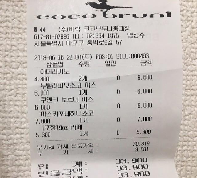 IMG_7913 coco bruni(ココブルーニ/코코브루니) 홍대점 弘大 ホンデ カフェ 韓国 ソウル 韓国カフェ ひめごと