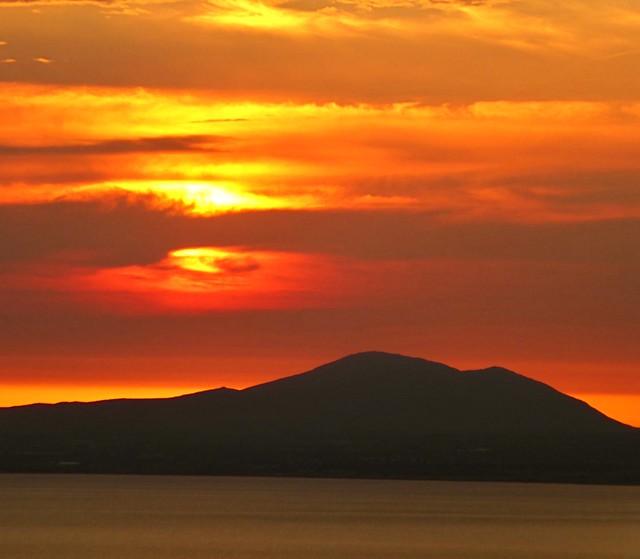 Sunset in snowdonia