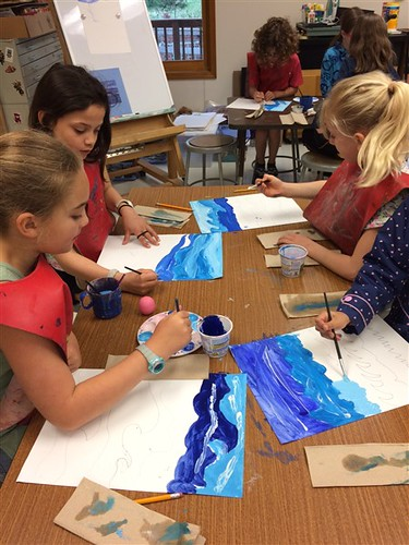 Knoxville students paint abstract art inspired by Beauford Delaney's