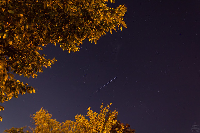 ISS into the Shade, Canon EOS 1000D, Canon EF-S 18-55mm f/3.5-5.6 [II]