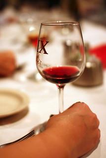 hand & wine glass