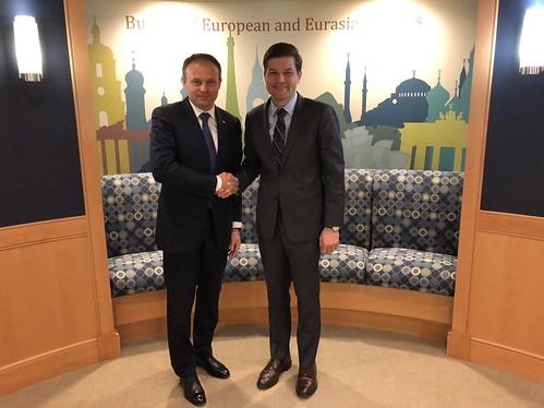 17.04.2018 Întrevedere Andrian Candu cu Wess Mitchell, asistentul secretarului de stat american pentru afaceri europene și eurasiatice