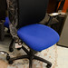 Blue mesh back chair adjustable seat and back E115