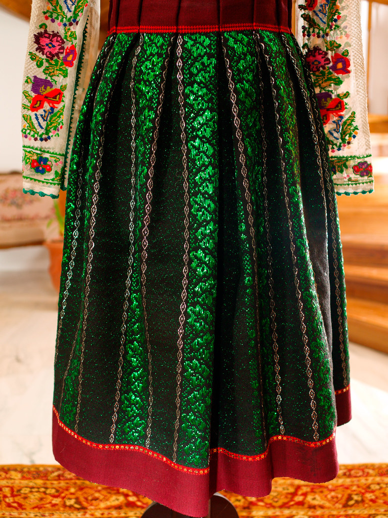 A traditional Romanian skirt