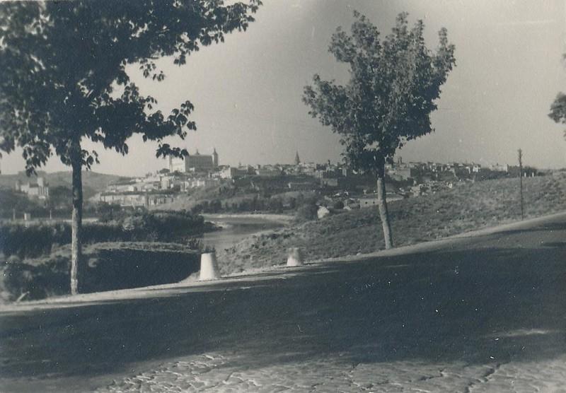Carretera de Mocejón en 1963. Fotografía de Julián C.T.