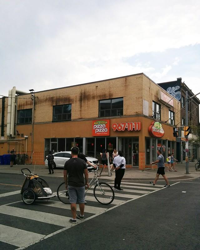 Pizza Pizza #toronto #bloordale #bloorstreetwest #bigonbloor #streetfestival #pizzapizza #latergram