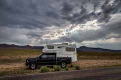 Sun Rays in Central Nevada
