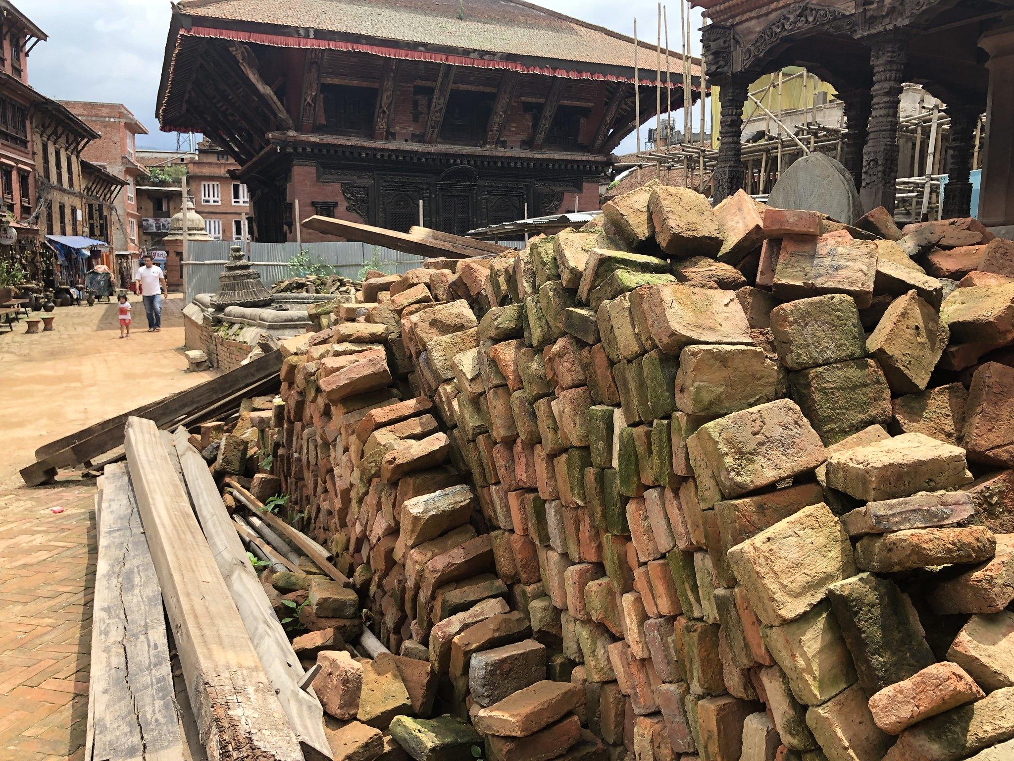 Bricks at Bhaktapur Durbar Square