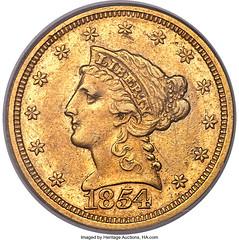 1854-S Quarter Eagle obverse