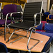Chrome  leatherette meeting chair E125