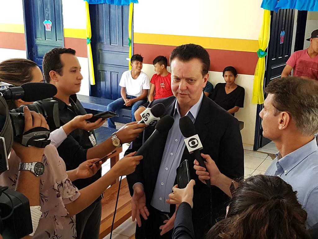 O ministro Gilberto Kassab apresenta o programa Internet Para Todos a prefeitos de Roraima. 18/07/2018. Fotos: MCTIC/Divulgação