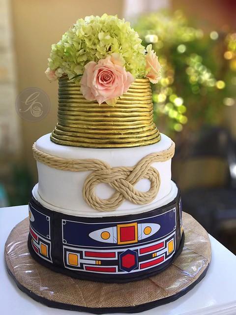 Ndebele Themed Wedding Cake by Gorgeously Caked Custom Cakes & Treats