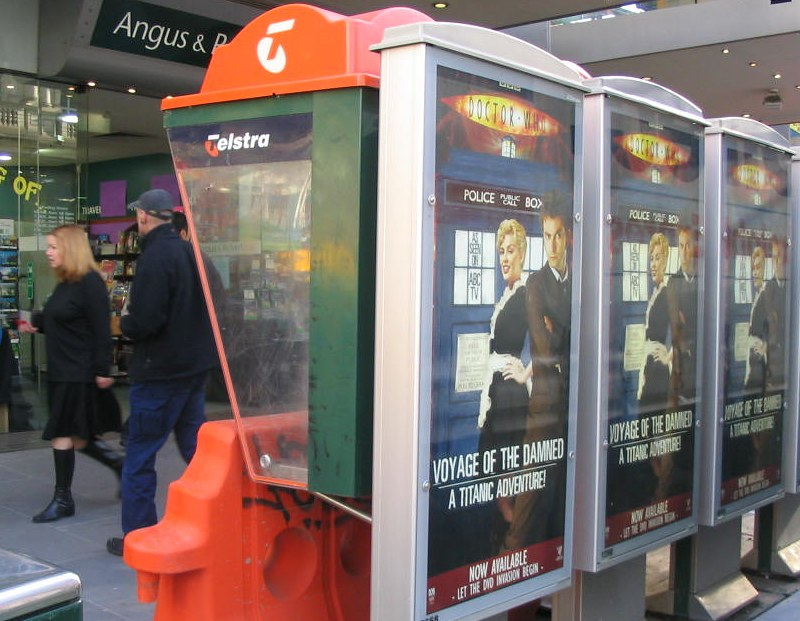 Public telephone ads for Doctor Who, July 2008