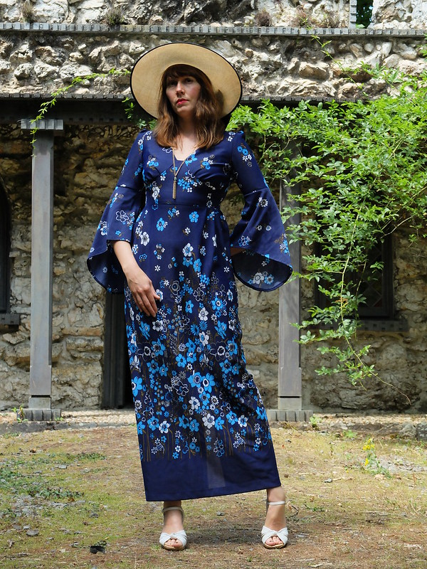 Roy 70s maxi dress @porcelinasworld