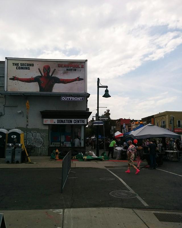 """The Second Coming"" #toronto #bloordale #bloorstreetwest #bigonbloor #streetfestival #deadpool #latergram"