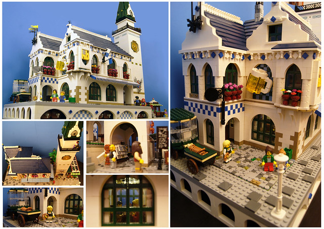 Lego Bavarian Beer Hall Collage