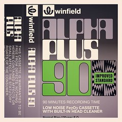 Cassettes: Winfield (Woolworths) Alpha Plus 90 (with built in head cleaner)