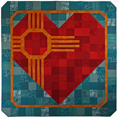 Big Hearted Zia Custom Quilt by Whimzie Quiltz