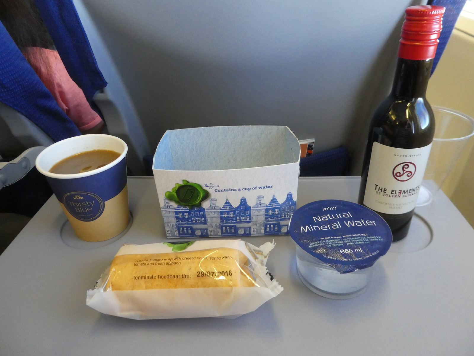 Snack served on our KLM flight from Amsterdam to Manchester