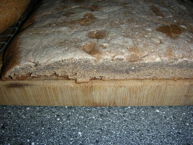 Brot aus Sauerteig (missglückt, zusammengefallen)