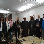 Vassula at Sheikh Ahmad Taleb's home with Sheikh Mohamad and TLIG group